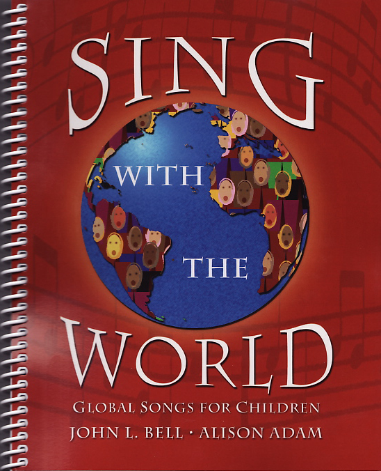 Globe on red background with 'Sing With The World' text