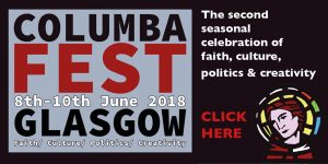 ColumbaFest title and subtitle with Columba profile