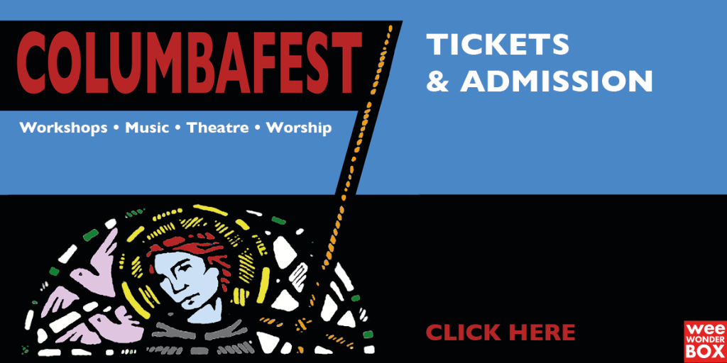 ColumbaFest logo + banner with tickets & info link