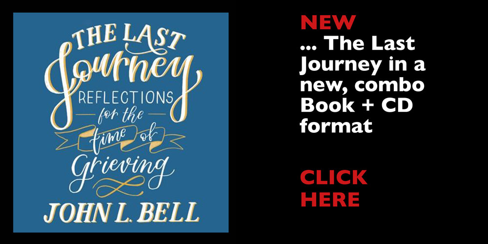 Blue Last Journey Book cover with text 'New: The Last Journey in a new, combo Book + CD format CLICK HERE
