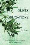Olive branch on light green background
