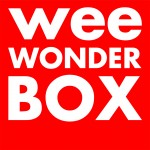 weeWONDERBOX logo, white letters on red square