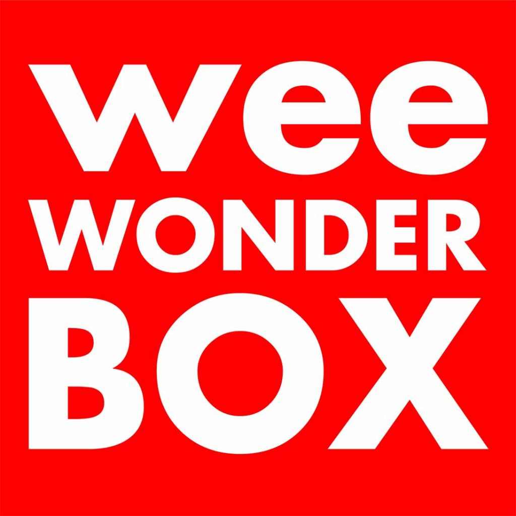 wee wonderbox logo (square red box with white text)