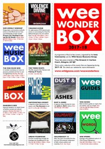 WWBOX poster with selection of events, logos, dates